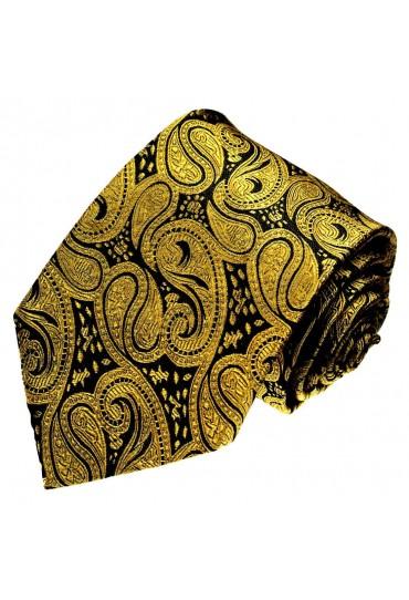 Mens Tie Chic paisley black gold LORENZO CANA