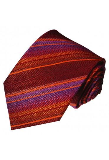 Men's Necktie Pure Silk Striped Purple LORENZO CANA