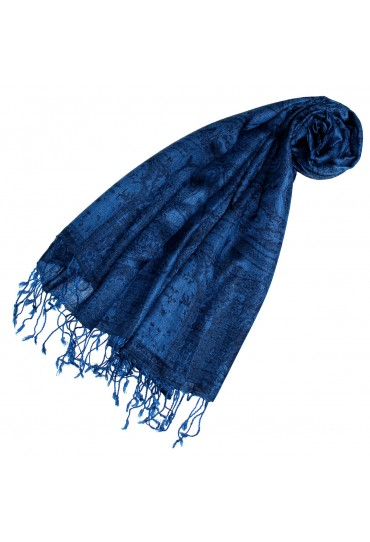 Pashmina Paisley blue dark blue LORENZO CANA