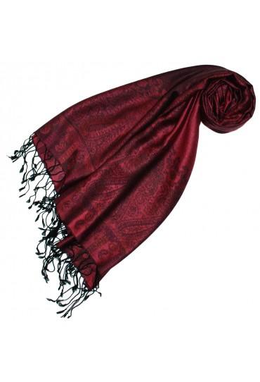 Pashmina 100% Modal Paisley Red For Women LORENZO CANA