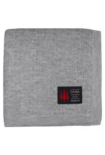 Voluminous blanket 100% alpaca Fair Trade plait pattern grey LORENZO CANA