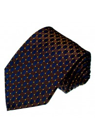 Silk Tie Blue Gold Brown LORENZO CANA