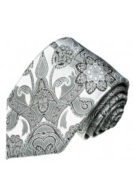 Wedding Tie White and silver LORENZO CANA