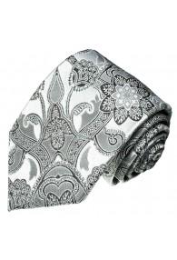 Wedding Tie White and silver LORENZO CANA