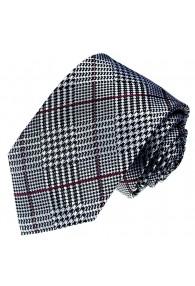Neck Tie Silk Diamond Silver Red Black LORENZO CANA