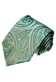 Neck Tie Silk Paisley Teal Cyan Turquoise LORENZO CANA