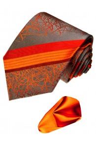Krawatte 100% Seide Rot Grau Schwarz