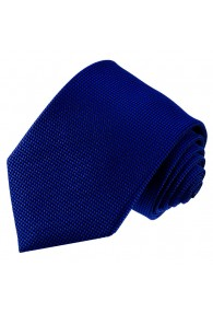 Neck Tie 100% Silk Checkered Dark Blue Navy LORENZO CANA