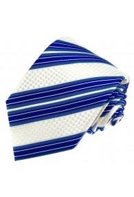 Krawatte Seide Blau Weiß LORENZO CANA