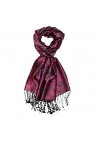 Scarf Paisley Silk Purple Cyan Red for Men LORENZO CANA