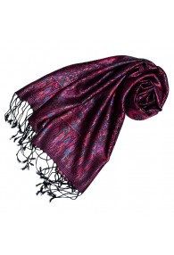 Pashmina scarf for women 100% Silk Pink Black Blue LORENZO CANA