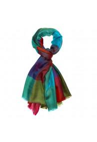 Shawl 100% Cashmere Checkered Multicolor For Men LORENZO CANA