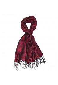 Shawl 100% Modal Paisley Dark Red For Men LORENZO CANA