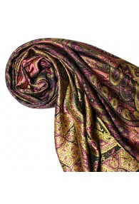 Shawl Silk Wool Paisley Purple Gold For Women LORENZO CANA