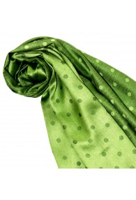 Women's Shawl Silk Viscose Polka Dot Green Dark Green LORENZO CANA