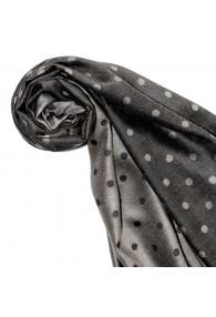 Women's Shawl Silk Viscose Polka Dot Silver Grey LORENZO CANA