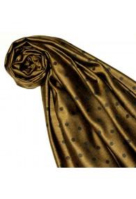 Women's Shawl Silk Viscose Polka Dot Gold Black LORENZO CANA