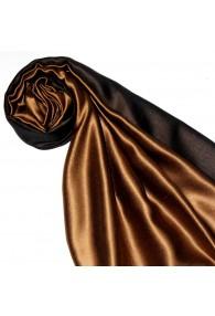 Women's Shawl Silk Viscose Bicolored Brown Copper LORENZO CANA