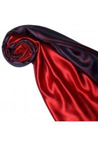 Women's Shawl Silk Viscose Bicolored Red Purple LORENZO CANA