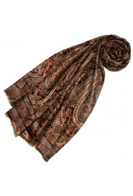 Pashmina 100% Cashmere Paisley Copper For Women LORENZO CANA