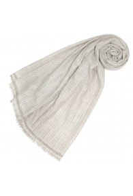 Pashmina 100% Cashmere Bicolored Beige Grey For Women LORENZO CANA