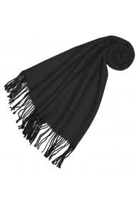 Women's Shawl 100% Alpaca Herringbone Black LORENZO CANA