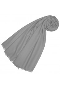 Cashmere mens scarf Uni Twill steel gray LORENZO CANA
