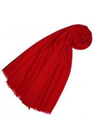Cashmere mens scarf Uni Twill Fire Red LORENZO CANA