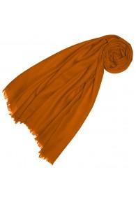 Cashmere mens scarf plain Amber Orange LORENZO CANA