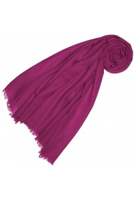 Cashmere scarf plain royal purple LORENZO CANA