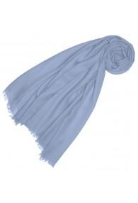Cashmere Scarf plain Pigeon blue LORENZO CANA