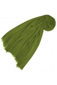Cashmere mens scarf plain Avodcado Green LORENZO CANA
