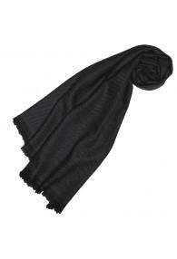 Cashmere mens scarf plain Night Gray LORENZO CANA
