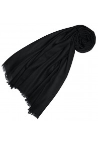 Cashmere scarf plain blue black LORENZO CANA