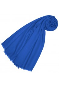 Cashmere mens scarf Uni Twill Gentian blue LORENZO CANA