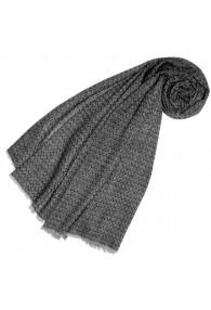 Cashmere mens scarf uncolored gray light gray LORENZO CANA