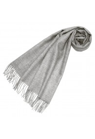 Scarf for women Light gray alpaca wool LORENZO CANA