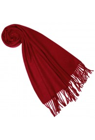 Scarf for women Fiery red alpaca wool LORENZO CANA