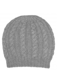 Beanie 100% alpaca wool Fog gray LORENZO CANA for men