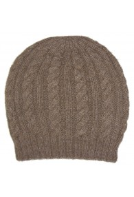 Beanie 100% Alpaca Wool Cappuccino Brown LORENZO CANA for men