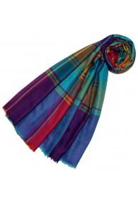 Cashmere mens scarf Uni Twill multicolored checkered LORENZO CANA