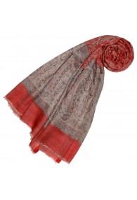 Cashmere mens scarf Orange Beige Paisley LORENZO CANA