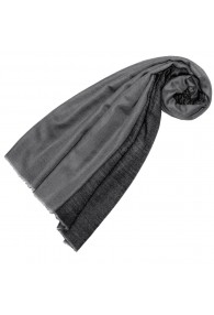 Cashmere mens scarf doubleface light and dark gray LORENZO CANA