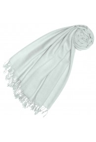Cashmere + wool scarf white monochrome LORENZO CANA