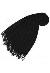 Cashmere + wool mens scarf black monochrome LORENZO CANA