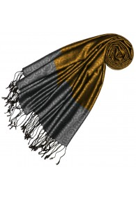 Silk + Viscose Men Scarf Gold Gray LORENZO CANA