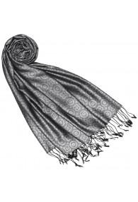 Silk + Viscose Men Scarf Silver Gray LORENZO CANA