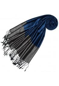 Silk + Viscose Men Scarf Blue Gray LORENZO CANA