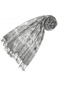 Viscose scarf dove gray Gray Paisley LORENZO CANA
