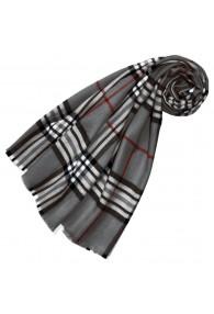 Polyacrylic + wool mens scarf gray checked LORENZO CANA